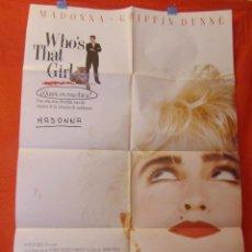 Cine: CINE - WHO THAT´S GIRL - QUIEN ES ESA CHICA (1987) MADONA - CARTEL AFICHE ORIGINAL100 X 70 CM - VER. Lote 58527805