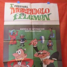 Cine: CINE - MORTADELO Y FILEMON 1º FESTIVAL- CARTEL AFICHE ORIGINAL100 X 70 CM . Lote 58535168