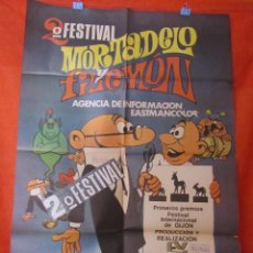 Cine: CINE - MORTADELO Y FILEMON 2º FESTIVAL- CARTEL AFICHE ORIGINAL100 X 70 CM . Lote 58535236