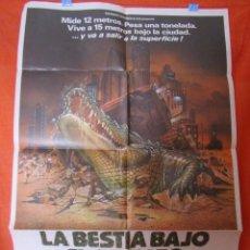 Cine: CINE - LA BESTIA BAJO EL ASFALTO (1981) - CARTEL AFICHE ORIGINAL100 X 70 CM. Lote 58536241