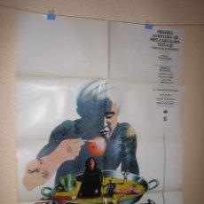 Cine: CINE - PRIMERA AVENTURA DE PEPE CARVALHO TATUAJE - ESTRENO 1977- CARTEL AFICHE ORIGINAL100 X 70 CM. Lote 58537051