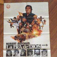 Cine: LA IRA DE DIOS POSTER 100X70 BUEN ESTADO Nº 117. Lote 58562667