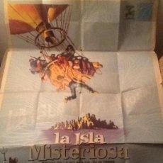 Cine: CARTEL DE CINE LA ISLA MISTERIOSA AÑO 1963 - 70X100 CM. Lote 58587563