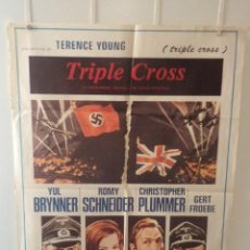 Cinéma: TRIPLE CROSS - YUL BRYNNER - ROMY SCHNEIDER - CHRISTOPHER PLUMMER - DIRECTOR TERENCE YOUNG. Lote 58637577