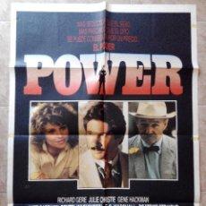 Cine: PODER (POWER) - APROX 70X100 CARTEL ORIGINAL CINE (L32). Lote 58747171