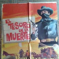 Cine: EL TESORO DE LA MUERTE. POSTER ESTRENO 70X100. FERNANDO CASANOVA, GLORIA LOZANO.. Lote 59106665