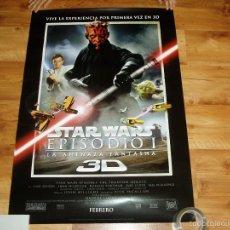 Cine: POSTER O CARTEL DE CINE. STAR WARS. EPISODIO 1.LA AMENAZA FANTASMA EN 3D. ORIGINAL.. Lote 103142802