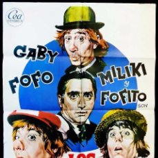 Cine: CARTEL DE CINE: LOS PADRINOS. AÑO:1973. GABY-FOFO-MILIKI-MILIKITO. ORIGINAL.. Lote 59627199