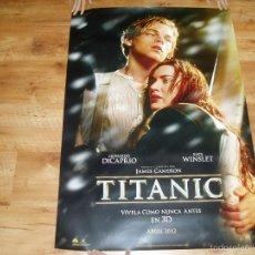 Cine: POSTER O CARTEL DE CINE. TITANIC EN 3D. MUY BUEN ESTADO.. Lote 237195495