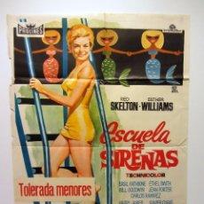 Cine: ESCUELA DE SIRENAS 70 X 100 ESTHER WILLIAMS. CARTEL ORIGINAL DE LA PELÍCULA. Lote 59758940