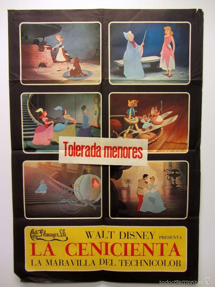 LA CENICIENTA WALT DISNEY CARTEL ORIGINAL DE LA PELÍCULA 70 X 100 (Cine - Posters y Carteles - Infantil)