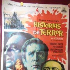 Cine: HISTORIAS DE TERROR. CORMAN ROGER (DIRECTOR) SOLIGÓ (DISEÑO). 70X100 CM. Lote 59919275
