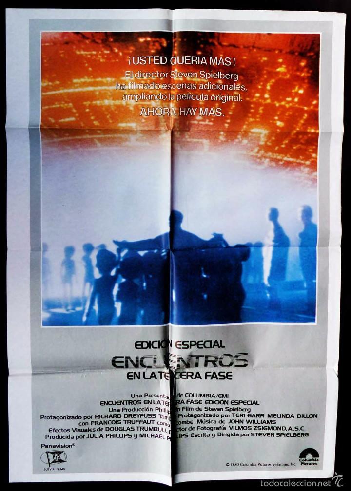 CARTEL DE CINE: ENCUENTROS EN LA TERCERA FASE. EDICIÓN ESPECIAL. ORIGINAL. STEVEN SPIELBERG. (Cine - Posters y Carteles - Ciencia Ficción)