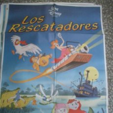 Cine: POSTER ORIGINAL DE CINE 70X100CM LOS RESCATADORES, DE 1976. Lote 60166183