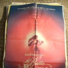Cine: POSTER ORIGINAL DE CINE 70X100CM LA BELLA Y LA BESTIA. Lote 60181135