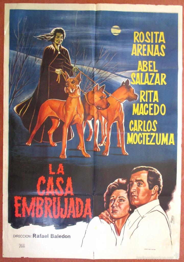 Poster Cartel Cine Original La Casa Embrujada La Maldicion De La Llorona Rafael Baledon Mex 1964