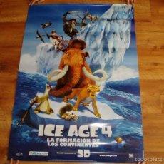 Cine: POSTER O CARTEL DE CINE. ICE AGE 4. ORIGINAL. MUY BUEN ESTADO.. Lote 60213899