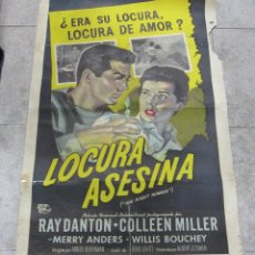 Cine: CARTEL DE CINE ORIGINAL. LOCURA ASESINA. (THE NIGHT RUNNER). 68 X 112 CM. VER. Lote 60247959
