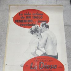 Cine: CARTEL DE CINE ORIGINAL. LA DIOSA. LA VIDA INTIMA DE UN IDOLO FEMENINO. 68 X 112CM. Lote 60248907