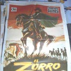 Cine: POSTER ORIGINAL DE CINE 70X100CM EL ZORRO CABALLERO DE LA JUSTICIA. Lote 60280499