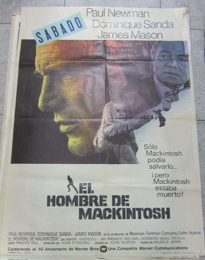 CARTEL DE CINE ORIGINAL. EL HOMBRE DE MACKINTOSH. PAUL NEWMAN. 70 X 100CM (Cine - Posters y Carteles - Acción)