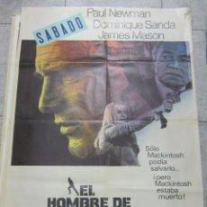 Cine: CARTEL DE CINE ORIGINAL. EL HOMBRE DE MACKINTOSH. PAUL NEWMAN. 70 X 100CM. Lote 60325715