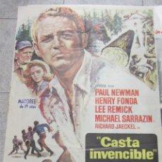 Cine: CARTEL DE CINE ORIGINAL. CASTA INVENCIBLE. PAUL NEWMAN, HENRY FONDA. 70 X 100CM. Lote 60326111