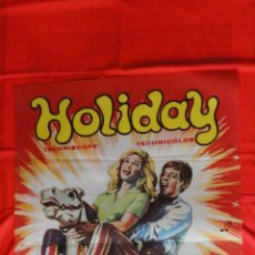 Cine: HOLIDAY, POSTER SOLIGÓ 70X100 CMS. JOHN LEYTON MIKE SARNE. Lote 60355575