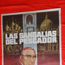 Cine: LAS SANDALIAS DEL PESCADOR, POSTER 70X100 CMS. ANTHONY QUINN OSKAR WERNER. Lote 60362163