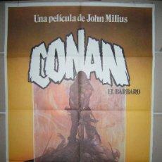 Cine: CONAN EL BARBARO ARNOLD SCHWARZENEGGER FRANK FRAZETTA POSTER ORIGINAL 70X100 RARO. Lote 60381595