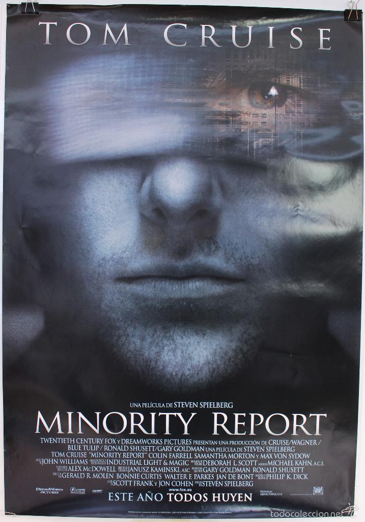 Cine: Cartel Original Cine. Minority Report. Steven Spielberg, Tom Cruise. - Foto 1 - 60698351