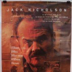 Cine: CARTEL ORIGINAL CINE. EL JURAMENTO. SEAN PEAN, JACK NICHOLSON. (2002). Lote 60699947