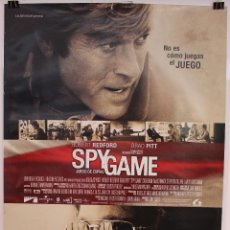 Cine: CARTEL ORIGINAL CINE. SPY GAME, JUEGO DE ESPIAS. TONY SCOTT, ROBERT REDFORD, BRAD PITT. Lote 60700583