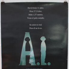 Cine: CARTEL ORIGINAL CINE. A.I. INTELIGENCIA ARTIFICIAL. STEVEN SPIELBERG, JUDE LAW, HALEY JOEL OSMENT.. Lote 60734603