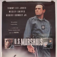 Cine: CARTEL ORIGINAL CINE. U.S. MARSHALS. TOMMY LEE JONES, WESLEY SNIPES, ROBERT DOWNEY JR.. Lote 60790947