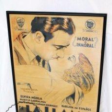 Cine: ANTIGUO CARTEL DE PELÍCULA - LA LLAMA SAGRADA - WARNER BROS. / CINEMATOGRÁFICA ALMIRA - AÑO 1931. Lote 60928295