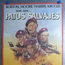 Cinema: PATOS SALVAJES - RICHARD BURTON, ROGER MOORE, RICHARD HARRIS, KRUGER - AÑO 1978. Lote 60928811