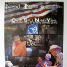Cine: CROSBY, STILLS AND NASH LIVE/DÉJÀ VU (NEIL YOUNG) CARTEL ORIGINAL 68 X 98. Lote 61004075