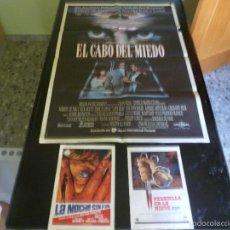 Cine: POSTER EL CABO DEL MIEDO + 2 PROGRAMAS LA NOCHE SIN FIN Y PESADILLA EN LA NIEVE. Lote 61123291
