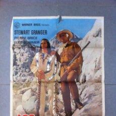 Cine: CARTEL DE CINE 70X100 LOS BUITRES CON STEWART GRANGER Y PIERRE BRICE DIRECTOR ALFRED VOHRER 1964. Lote 61321703