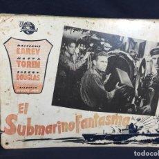 Cine: CARTELERA CINE LOBBY CARD EL SUBMARINO FANTASMA CAREY TOREN DOUGLAS SRIK 29X39CMS. Lote 61541108