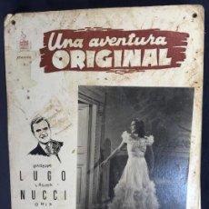 Cine: CARTELERA CINE LOBBY CARD UNA AVENTURA ORIGINAL LUGO MUCCI PAOLA BRIGNONE 29X39CMS. Lote 61543340