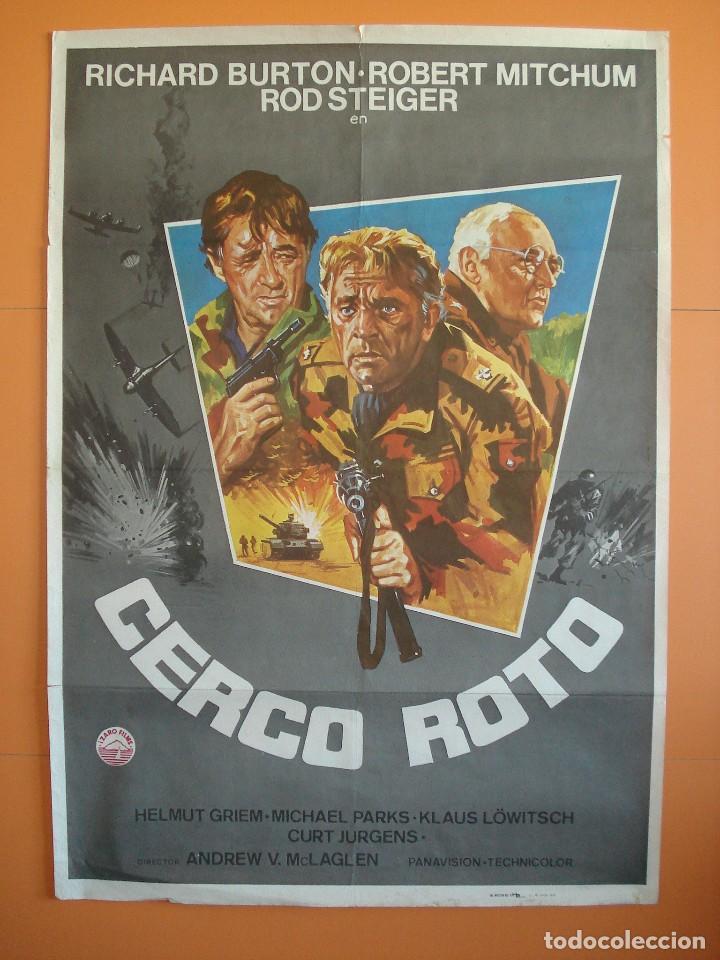CARTEL, POSTER CINE -ORIGINAL- PELICULA: CERCO ROTO - AÑO 1979.. R-3303 (Cine - Posters y Carteles - Bélicas)