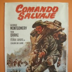 Cine: CARTEL, POSTER CINE - PELICULA: COMANDO SALVAJE - AÑO 1979- ORIGINAL -.. R-3304. Lote 61601464