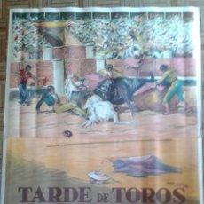 Cine: TARDE DE TOROS. POSTER ESTRENO 140X100. DOMINGO ORTEGA, ANTONIO BIENVENIDA, ENRIQUE VERA. LITOGRAFÍA. Lote 61952404