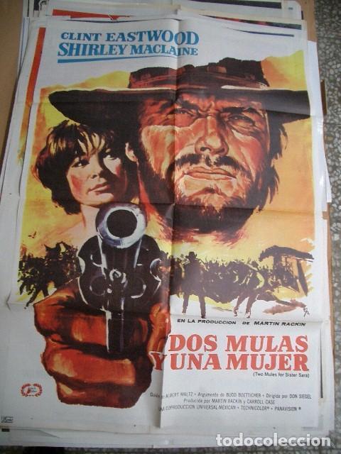 POSTER ORIGINAL DE CINE 70X100CM DOS MULAS Y UNA MUJER CON CLINT EASTWOOD Y SHIRLEY MCLANE (Cine - Posters y Carteles - Westerns)