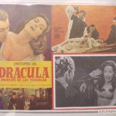 Cine: DRACULA PRINCIPE DE LAS TINIEBLAS-CARTEL ORIGINAL PARA CINE-CHRISTOPHER LEE-CLASICO TERROR. Lote 62068700