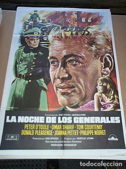 POSTER ORIGINAL DE CINE 70X100CM LA NOCHE DE LOS GENERALES (Cine - Posters y Carteles - Bélicas)