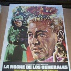 Cine: POSTER ORIGINAL DE CINE 70X100CM LA NOCHE DE LOS GENERALES. Lote 190342416