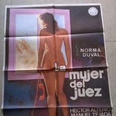 Cine: CARTEL DE CINE LA MUJER DEL JUEZ NORMA DUVAL ORIGINAL. Lote 105876386